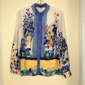 Rafaella Floral Dress Blouse